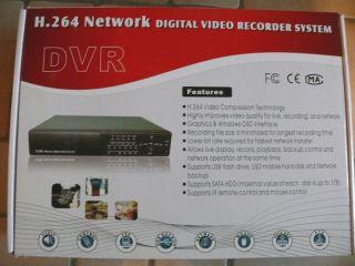 BSV634N 4 Kanal DVR mit H 264 Network Digital Video Recorder System
