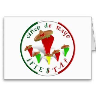 Cinco De Mayo Fiesta Dancing Chili Peppers Card