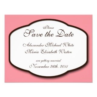 Pink Brown & White Address Labels