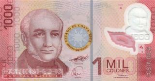 Costa Rica   1000 Colones 2009   P.new(274) Polymer UNC