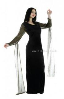 Morticia Addams Family Kleid Kostüm Gr. 36/38
