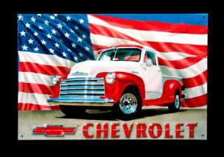 Chevrolet Truck Schild Pick Up Chevy Oldtimer 268*