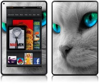Cat Design  Kindle Fire Skin   Leather Effect Vinyl Sticker