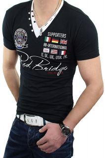 RBC REDBRIDGE by CIPO & BAXX T Shirt Herren V Neck Doppelkragen Polo