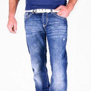 REDBRIDGE CIPO & BAXX Jeans Hose Herren Dicke Naht Blue Denim RB 92