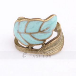 Ring süße Blätter Style Ringe Damen Retro Fingerring NEU 102 0097