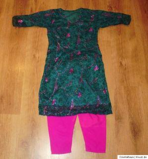 Salwar Kameez Bollywood Indische Kleidung Sari Orient Mädchen 14   15