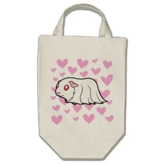 Cartoon Guinea Pig (albino) bags by SugarVsSpice