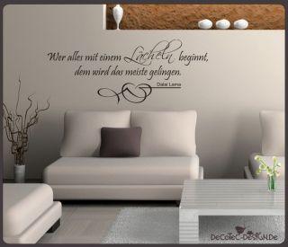 Dekorationsbeispiel Farbe des Wandtattoos auf dem Bild ist schwarz