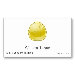 Hard Hat Construction Architect Business Card Template
