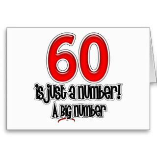 Cards, Note Cards and Happy 60th Birthday Greeting Card Templates