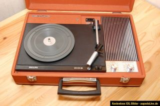 Kofferplattenspieler PHILIPS JET 003 vintage portable record player
