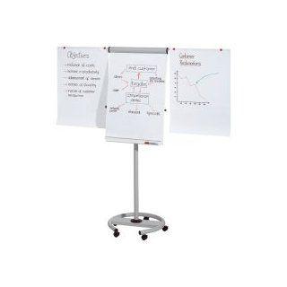 Franken Flipchart Professional Mobil/FC24 Höhe 195 cm lichtgrau