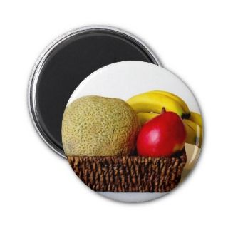 Fruit Basket Refrigerator Magnets