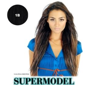 Hairaisers Supermodel human hair extension weft   Colour 1B