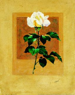 Long Stem Rose Art by Nancy Azneer