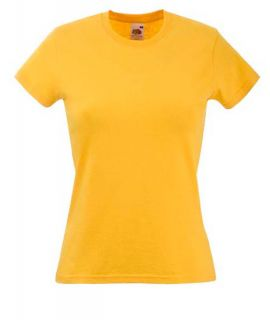 Damen T Shirt Fruit of the Loom Kurzarm Shirt Rundhals 16 Farben 160g