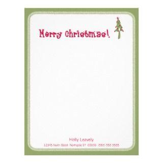 Santa Letterhead, Custom Letter Santa Letterhead Templates