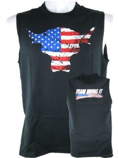 The Rock Team Bring It USA Sleeveless Muscle T shirt Black