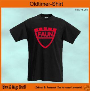 LKW Oldtimer T Shirt FAUN Lastwagen sort. Farben 287