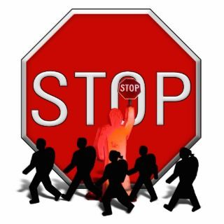 Crossing Guard w/Kids & Stop Sign Photo Cutouts