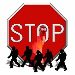 Crossing Guard w/Kids & Stop Sign Photo Cutouts