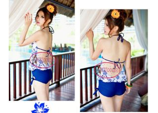 Ethnic Chinese Porcelain Sheer Open Back Monokini Swimsuit Bademode