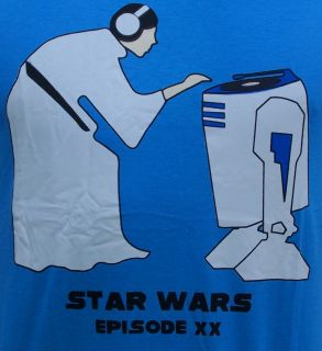 Star wars dj Leah r2d2 kult movie skate shirt gr M