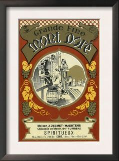 Mont Dore Wine Label   Europe Posters