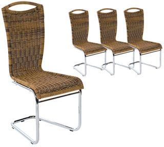 6x Konferenzstuhl Freischwinger Besucherstuhl Stuhl Mit Holzlehne