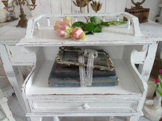 SHABBY Tisch Pult Telefontisch weiß uralt Konsole Belle Blanc Vintage