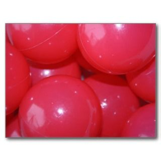 Coloured Red Plastic Balls Post Card