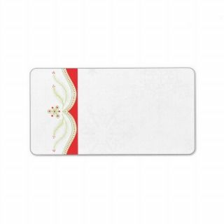 Red and Green Chrismas Address Label