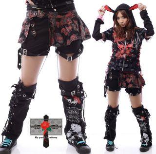 Visual Kei Rockabilly Hell 3WAY Zombie Emo Skirt Pants