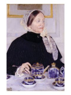 Lady at the Tea Table Poster by Mary Cassatt