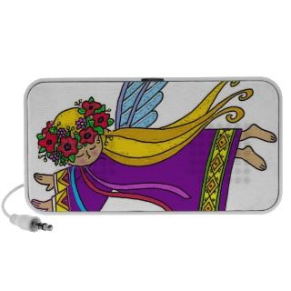 Sweet Angel Ukrainian Folk Art Travel Speaker