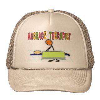 Massage Therapist Stick People Design Gifts Mesh Hats