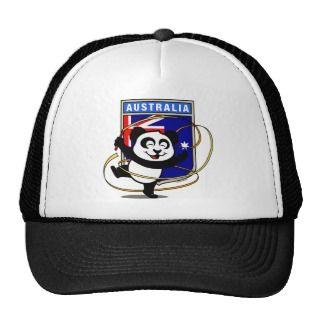 Australia Rhythmic Gymnastics Panda Mesh Hat