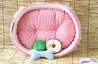 Princess Pink Soft Pet Dog Cat Bed House Sofa S 45x40