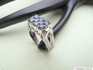 Art Deko SAPHIR, Silber Ring,,835 + Zusatz gestempelt,,TOP,,