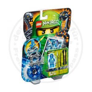 Lego Ninjago 9570 NRG Jay Ninja Figur + Waffen + Karten + Spinner