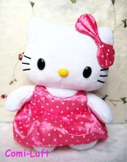 Neu Hello Kitty Plüschtier PLÜSCH Puppe Figur Stofftier Pink 02