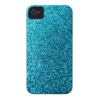 Faux Blue Glitter iPhone 4 Case Mate Case