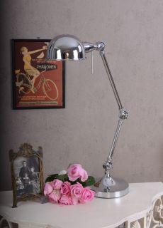 Büro Lampe Schreibtisch Leuchte im Art Deco Stil Bauhaus Metall