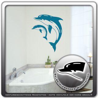 Wandtattoo  Delphine Wal Fisch Meer  Sticker l WT294