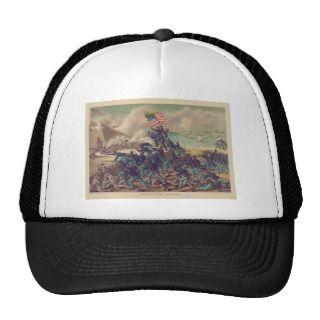 American Civil War Storming of Fort Wagner in 1863 Trucker Hat