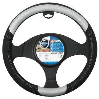 Silver Grey & Black Universal Steering Wheel Cover Skor