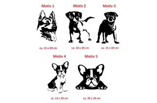 E297 Hundeaufkleber Hund Mops Moppi Auto Hunde Aufkleber Autoaufkleber