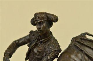 MATADOR TORERO Bronze STIER Bronzeskulptur Statue Toro Bull Fighter
