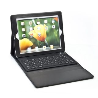 PU Leather Case Cover Stand Wireless Bluetooth Keyboard for iPad2/iPad
